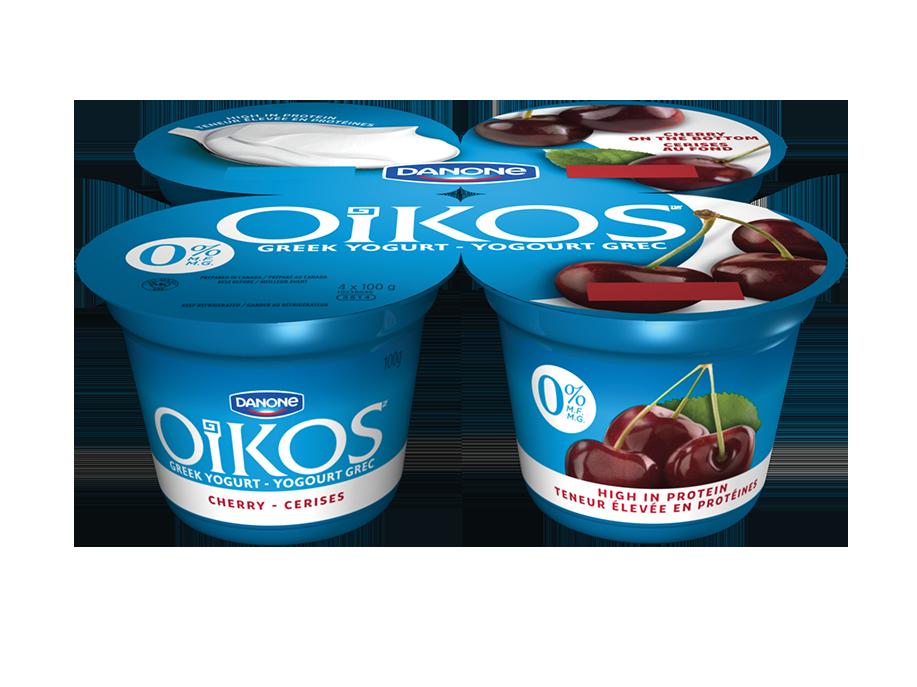 cherry o greek yogurt oikos canada. Black Bedroom Furniture Sets. Home Design Ideas