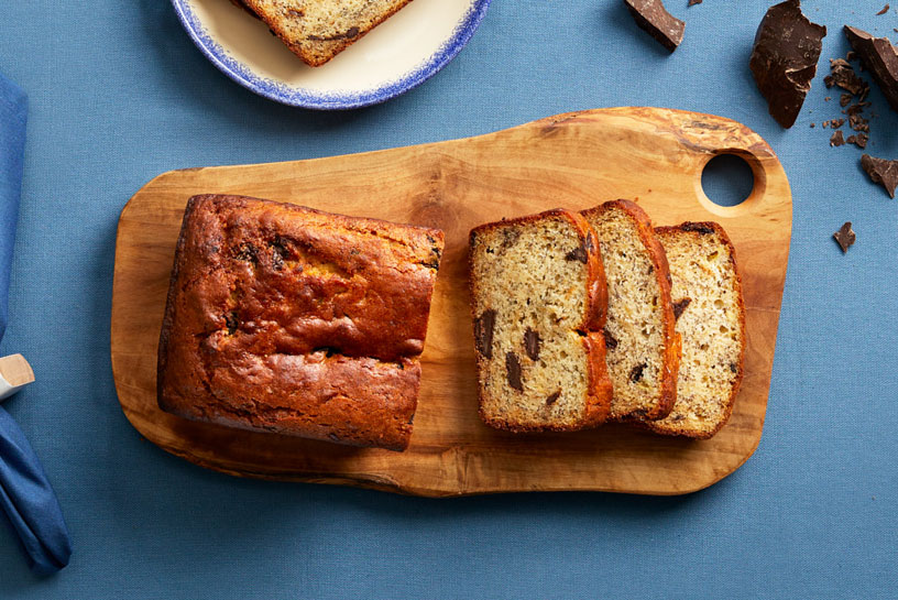 Chocolate-yogurt banana bread