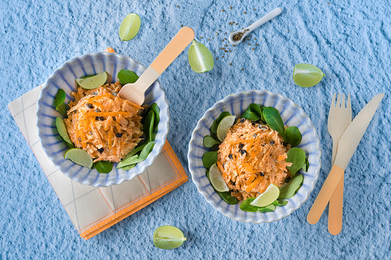 Creamy carrot salad
