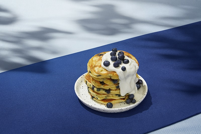 Extra soft blueberry pancakes